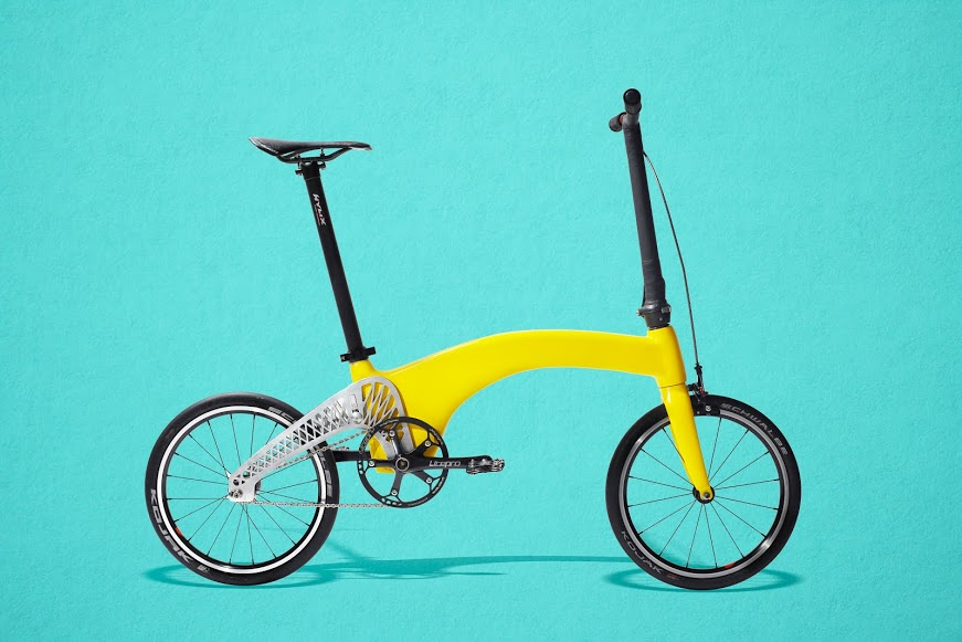 folding bike, bicycle design, bicycle commuting, kickstarter, crowdfunding, carbon fiber