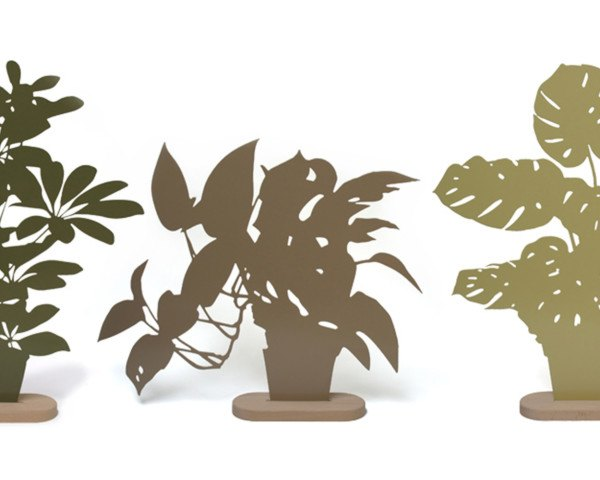 plant alternatives, artificial plants, metal plants, OOOMS, OOOMS Silhouettes, plant silhouettes, plant art, art, reader submission