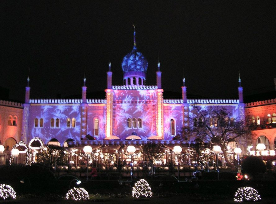 christmas lights, Tivoli Market, light displays, christmas light displays, denmark, copenhagen markets