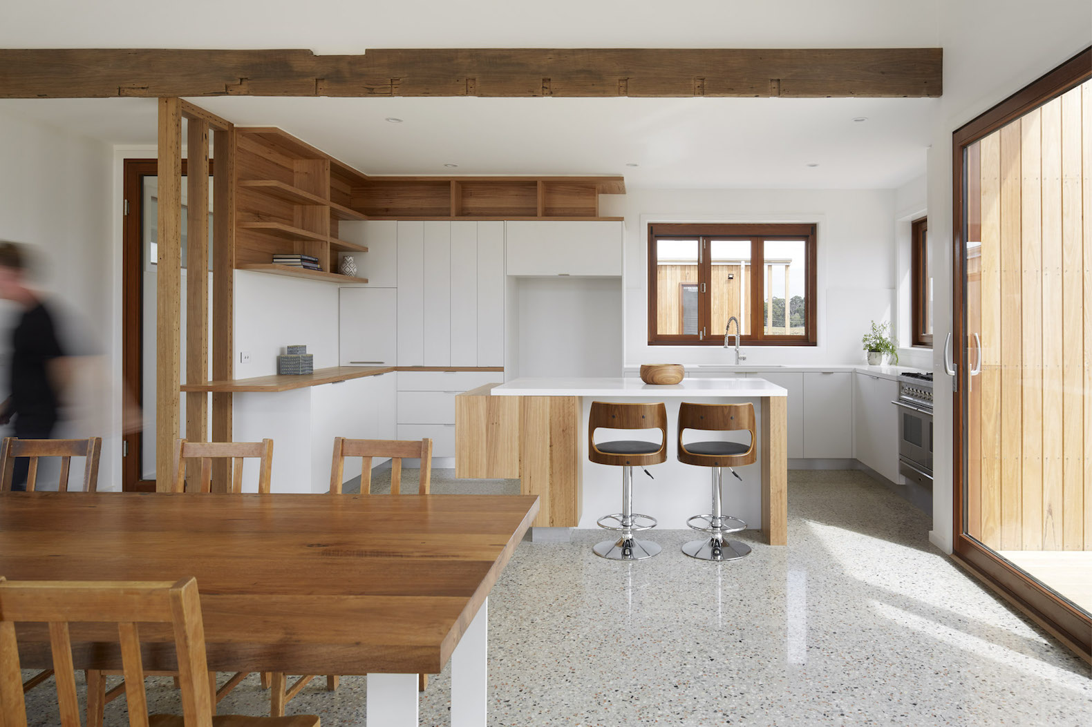 beautiful contemporary farmhouse harnesses all of its water supply