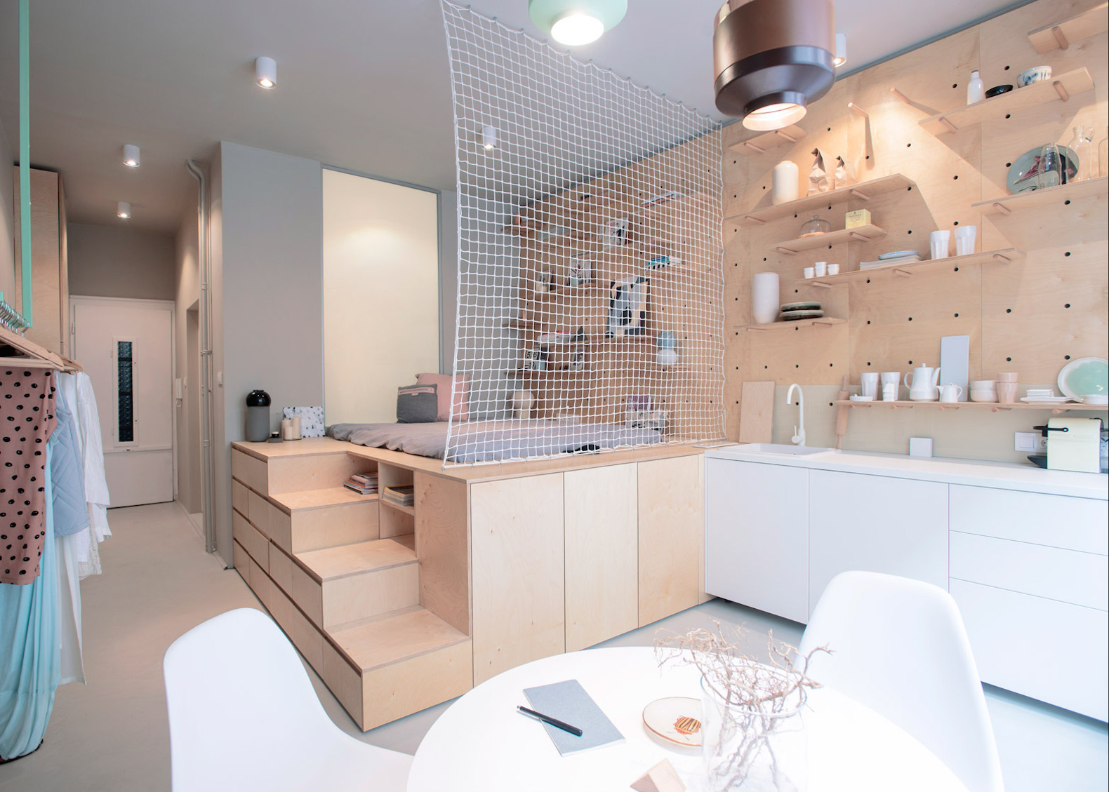 Stylish And Minimalist Micro Apartment Makes The Most Of Small Space Living