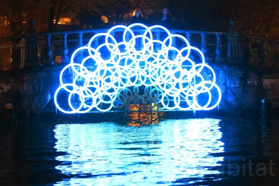 Amsterdam Light Festival 2015, Amsterdam, sustainable lighting, LED light, glowing installations, canal cruise, Northern Lights, Water Colors, Illuminade,