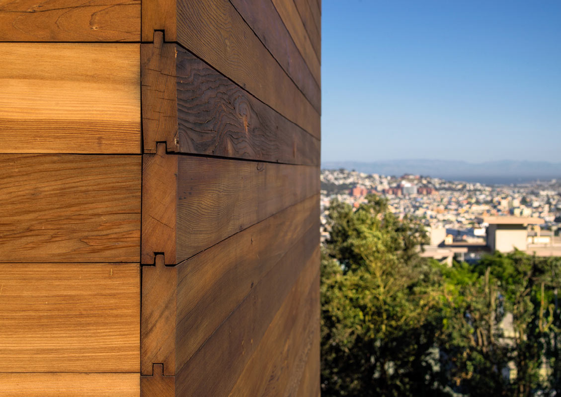 modern san francisco home sports reclaimed redwood siding