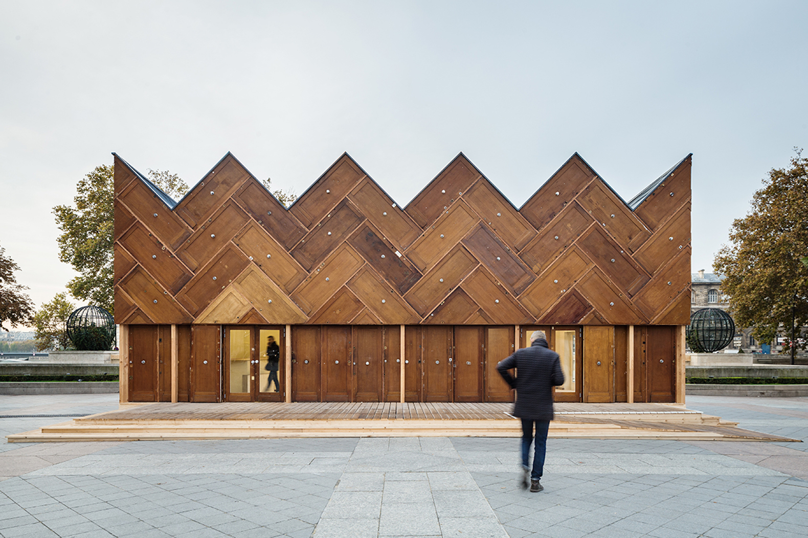 Stunning Parisian pavilion is crafted from 180 recycled wooden doors & Recycled Doors | Inhabitat - Green Design Innovation ... Pezcame.Com