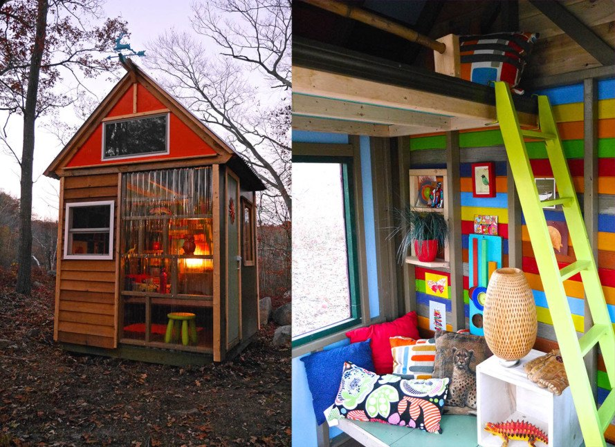 8 year old cub scouts build their own tiny house studio to raise