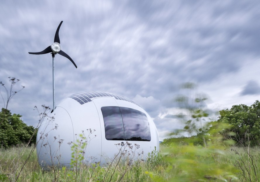 EcoCapsule, EcoCapsule by Nice Architects, Nice Architects, off-grid EcoCapsule, solar powered EcoCapsule, egg shaped architecture, pod house, off grid pod, wind power, solar power, off grid architecture, off grid living, self sustaining home, mobile home, off grid mobile home, self sustaining architecture,