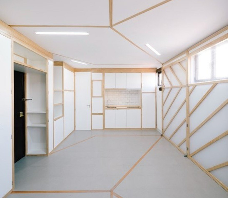 Biombombastic, Elii architects, small spaces, small homes, tiny homes, madrid small apartment, space saving design, green design, compact spaces, compact apartments, tiny apartments, madrid archictecture, flexible design, space saving partitions, perspex screens,