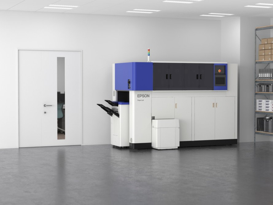 epson paperlab, paper recycling, epson recycling, paperlab recycling, eco-products 2015, waterless recycling, confidential document recycling, recycling, in-office recycling