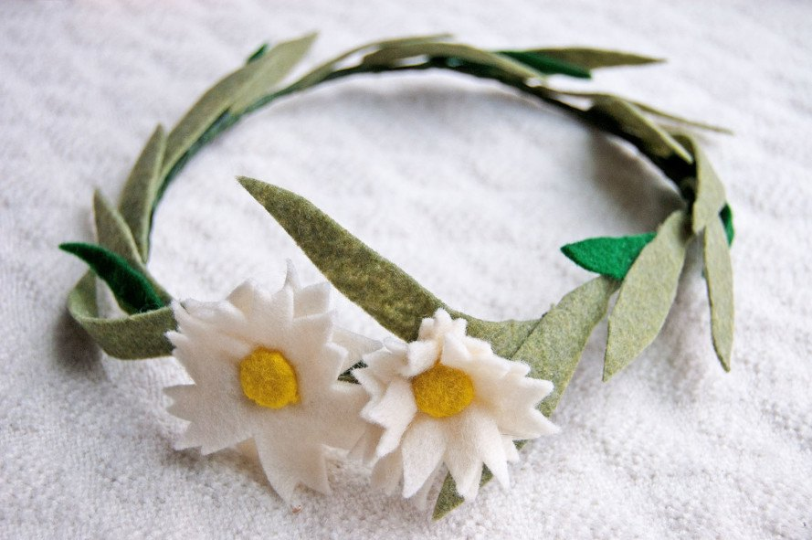 Floral crown made from upcycled fabric scraps, DIY upcycled crown, DIY holiday gifts, DIY last minute gifts, nature-themed gifts, DIY nature frame, how to make a nature frame, eco-gifts, green gifts, green holiday gifts