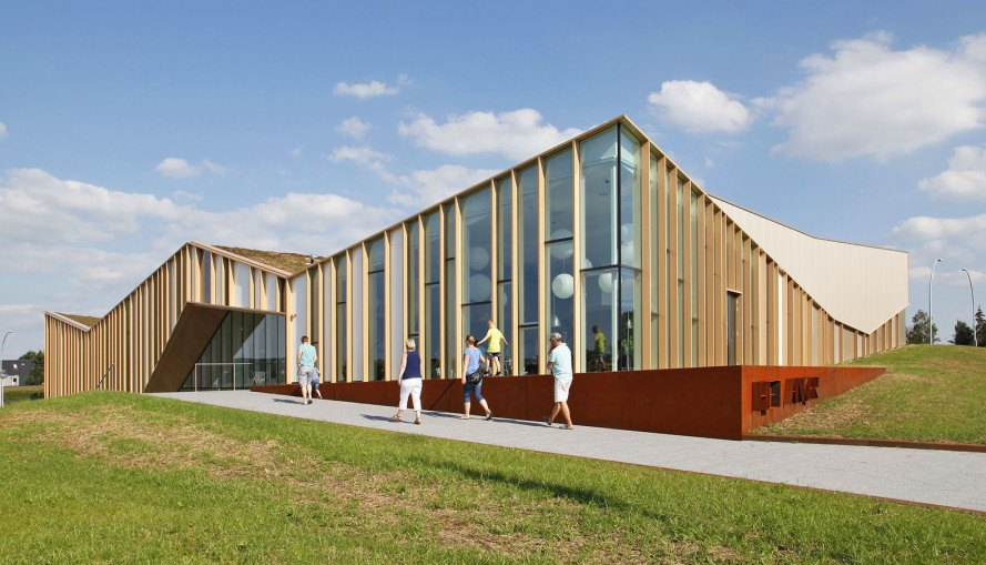 Het Anker community center, the Netherlands, Rotterdam, public building, multi-purpose building, timber facade, green architecture, community space