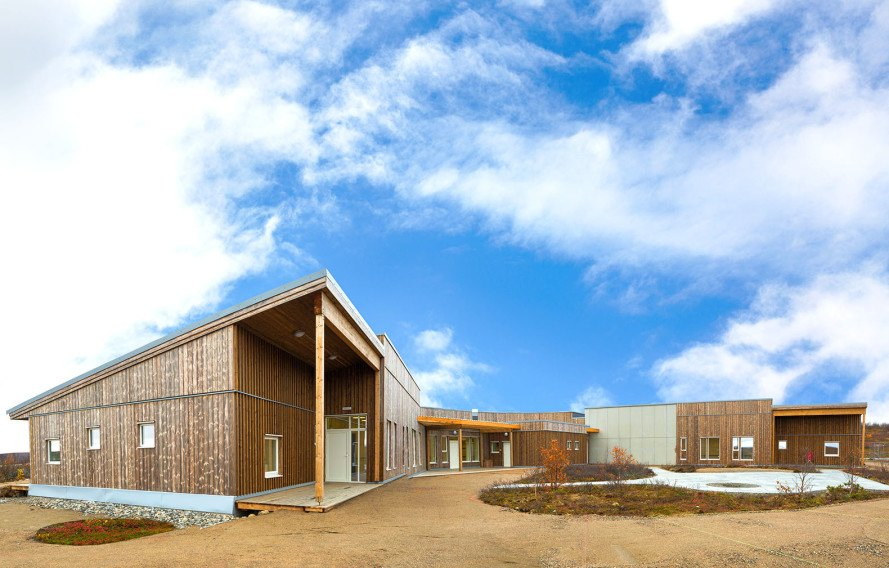 Kautokeino Home Care Center, retirement home, prefab, prefab building, Kebony, Q-haus, passive house, passivhaus, green architecture, Norway, sustainable wood, airtight envelope