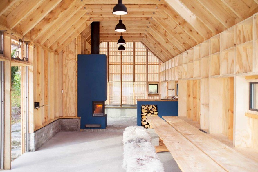 Koreo Arkitekter and Kolab Arkitekter, Norwegian boathouse, Naust V, heartwood pine, polycarbonate skin, vertical wooden louvers, Norwegian wood, Vikebygd, Oslo, restored boathouse