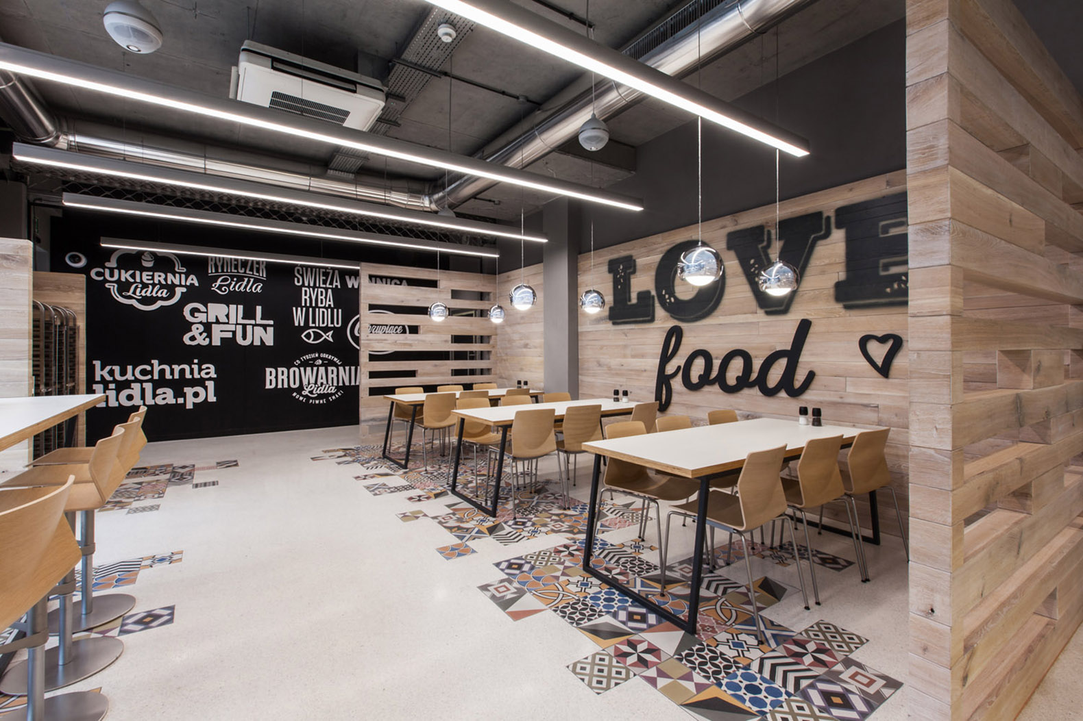 green eco office building interiors natural light. Mode:lina Architekci Design A Playful New Restaurant For LIDL Poland Green Eco Office Building Interiors Natural Light I