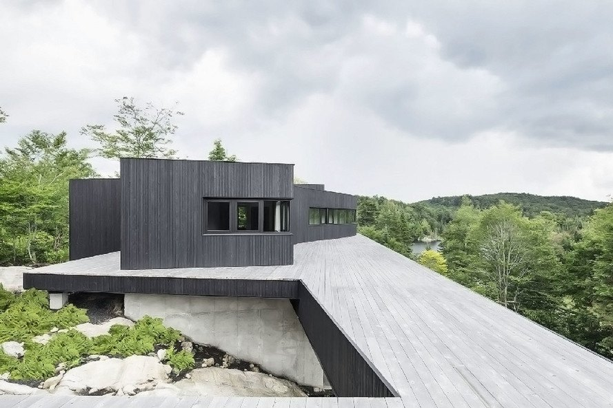 La Héronnière, off-grid home, off-grid, Quebec, Canada, Alain Carle Architecte, self-sufficient house, solar panels, solar power, reclaimed materials, green architecture
