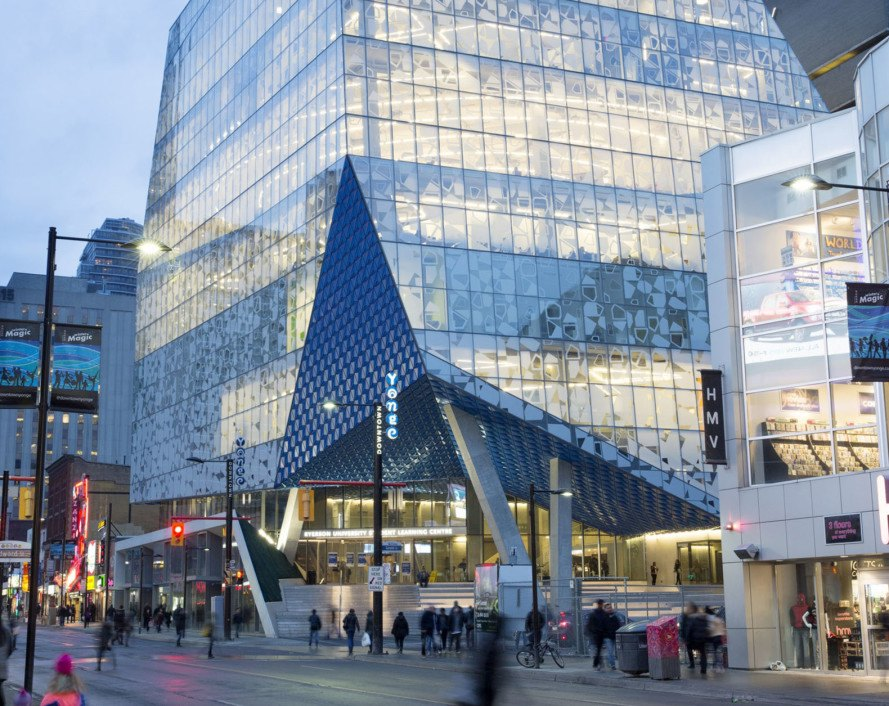Snøhetta, Zeidler Partnership Architects, Ryerson Student Learning Center, Toronto, Canada, green architecture, metal facade, flexible spaces, nature inspired design, natural light, learning