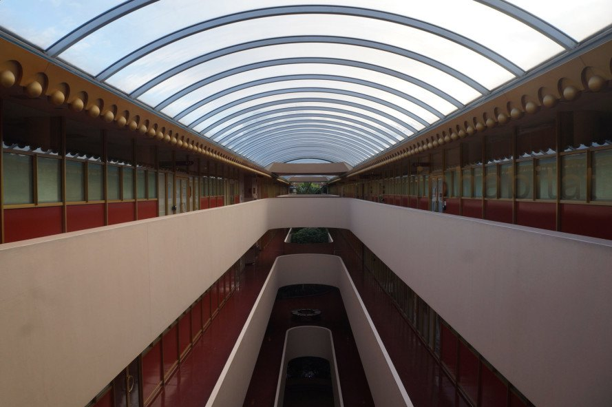 Marin County Civic Center Atrium, Frank Lloyd Wright, Marin County Public Library