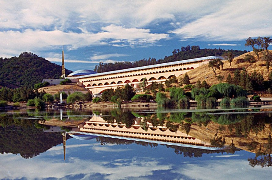 Marin County Civic Center, reflection