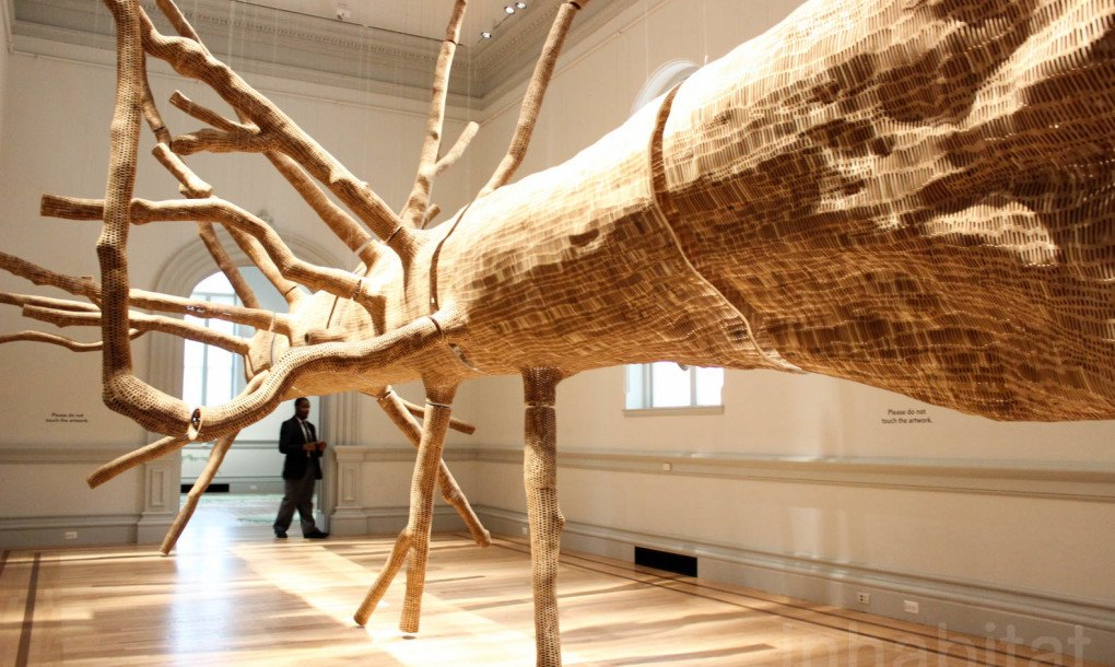 Cast Wood Art : Stunning wood sculpture is cast from a living year old