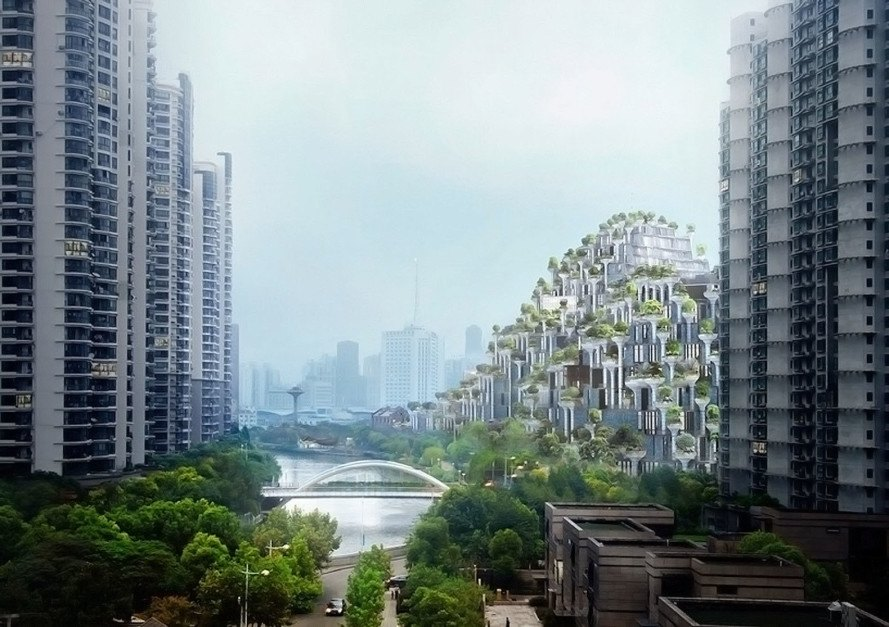 Heatherwick Studio, Shanghai, Moganshan Shanghai Art District, green architecture, high-rise, green roof, mixed-use architecture, green housing, China