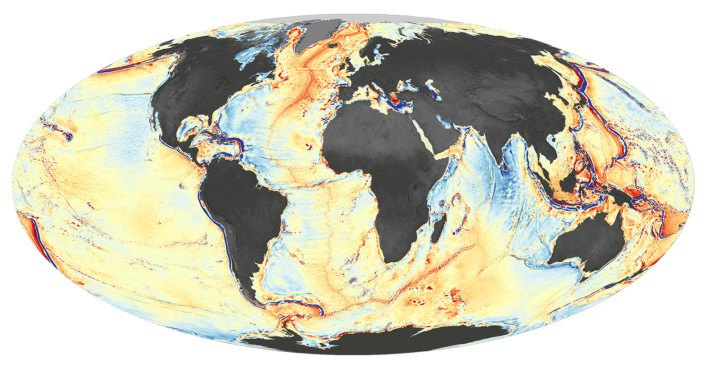 This is the most detailed map of the ocean floor to date