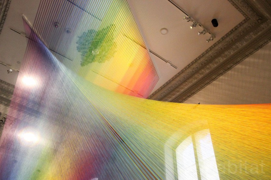 Gabriel Dawe, thread, embroidery, embroidery art, thread art, thread installation, Plexus, Plexus by Gabriel Dawe, Plexus A1 by Gabriel Dawe, Renwick Gallery, Smithsonian American Art Museum, site specific artwork, site specific installation,