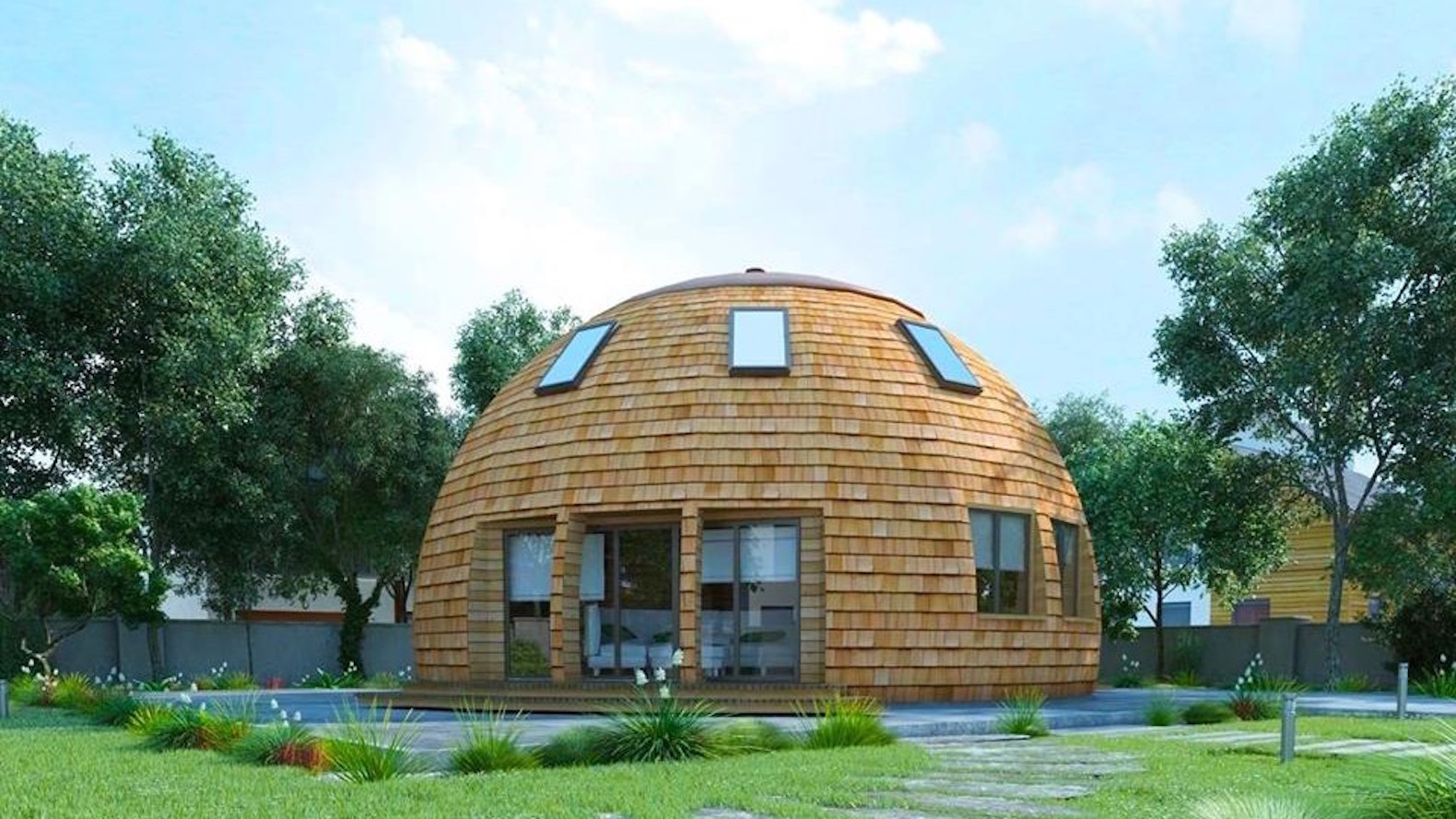 Dome Home Design Ideas: Gorgeous Russian Dome Home Of The Future Withstands