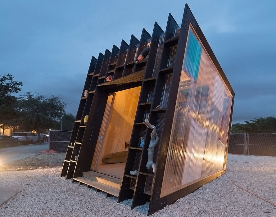 Yves Béhar, Surf Shack, temporary installation, green design, wooden hut, sliding doors, Miami, Design Miami, handmade surfboardsv