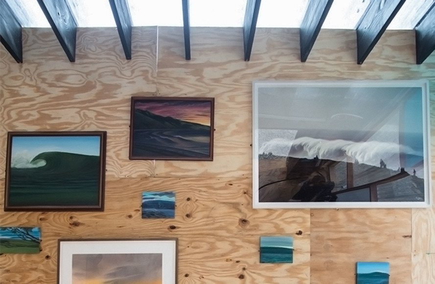 Yves Béhar, Surf Shack, temporary installation, green design, wooden hut, sliding doors, Miami, Design Miami, handmade surfboards