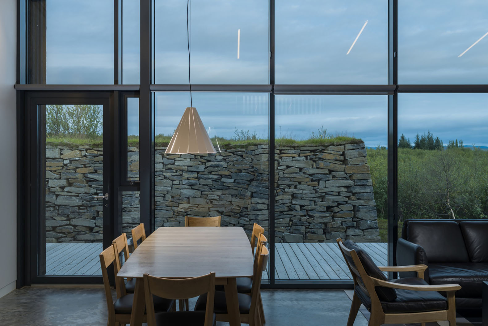 Pk Arkitektar S Green Roofed Vacation Cottages Blend Into