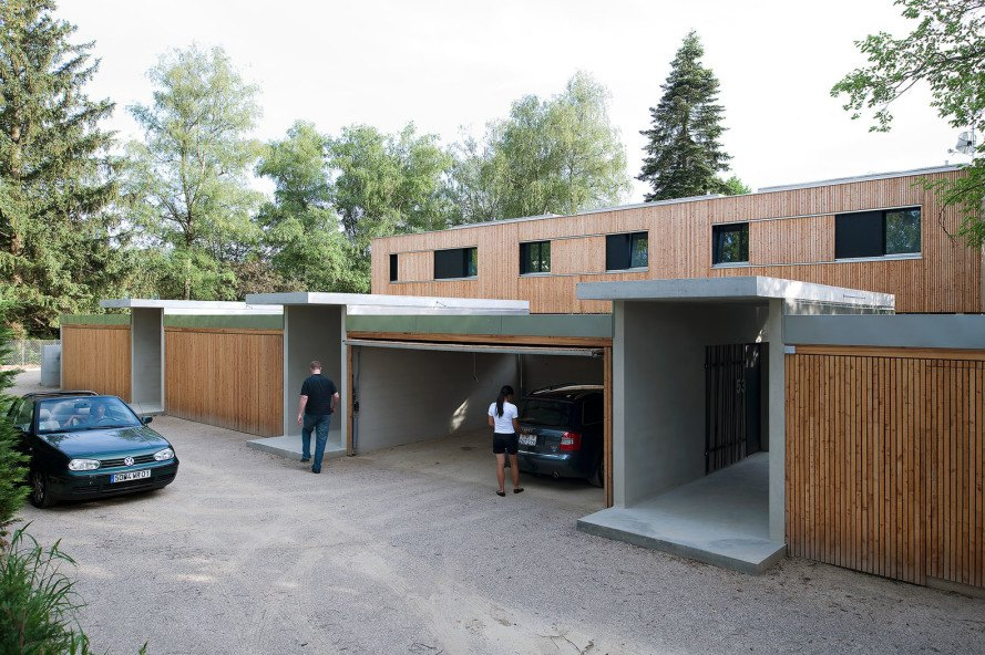 Villas Jonc, Geneva, attached houses, residential archiecture, Christian von Düring, passive house, passiv haus, green architecture, flexible spaces, internal courtyard, natural light, low maintenance, natural cooling