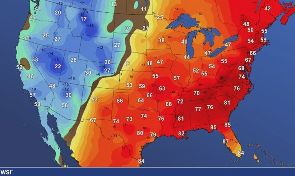 The Us Weather Map Globalinterco - Us weather maps forecast weather