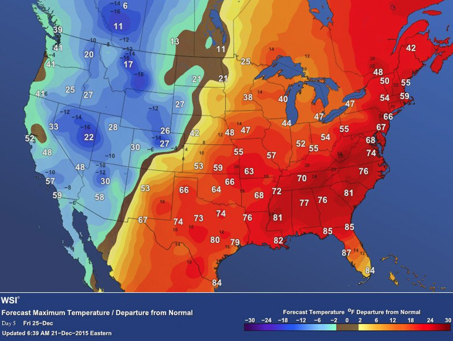 Weather Maps Ilrate The Strangest Christmas Weather In History Wsi Forecast Inhabitat Green Design Innovation Architecture Green Building
