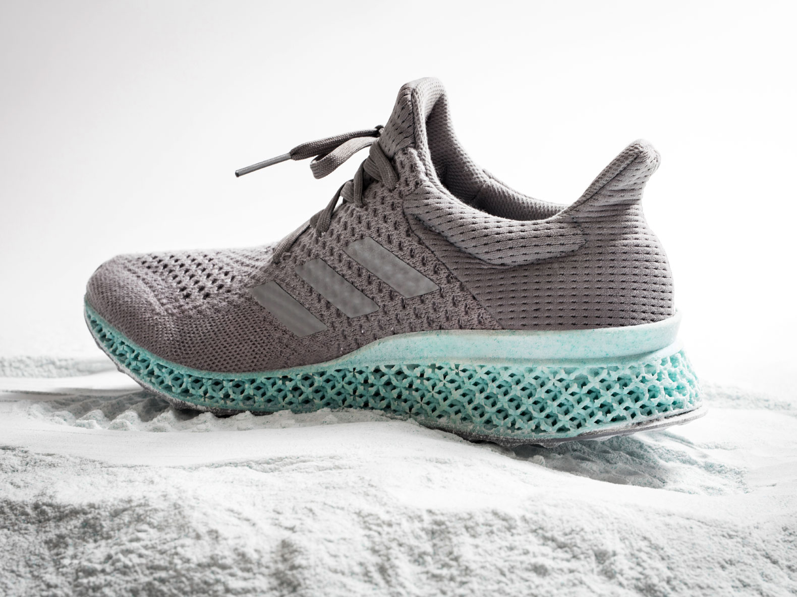 This sneaker was 3D-printed from recycled ocean trash
