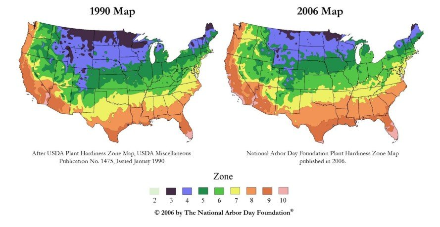 hardiness zone changes, plant hardiness zone changes, climate change farming