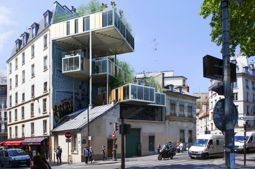 3BOX, 3BOX by Stéphane Malka Architecture, Stéphane Malka Architecture, prefab architecture, prefab housing, La Seine, affordable housing, parasitic architecture, modular housing, modular architecture, Les Toits du Monde, 3BOX Les Toits du Monde,