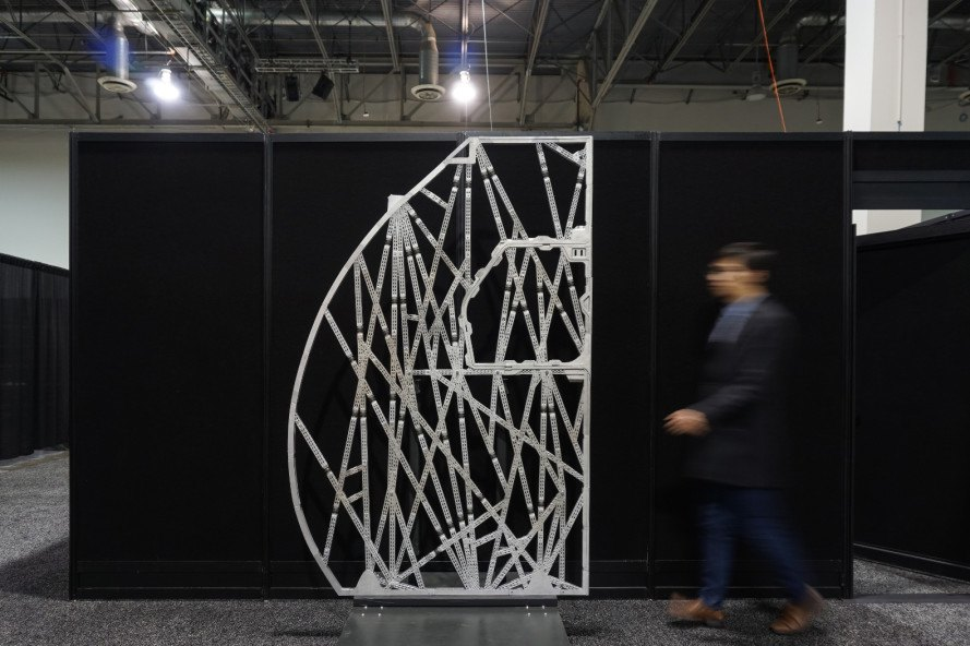 bionic partition, david benjamin, the living, airbus, autodesk, apworks, a320 planes, 3d printed airplane partition, 3d printing, 3d metal printing