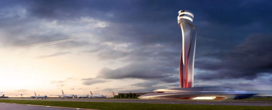 Air Traffic Control (ATC), atc tower, green tower, Istanbul, AECOM, Pininfarina, design competition, airport design, aviation, automotive, green architecture