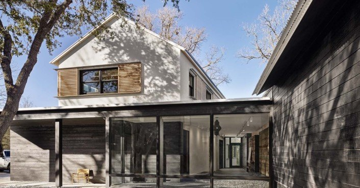 aamodt plumb architects 39 modern texas prefab was built in just 12 months. Black Bedroom Furniture Sets. Home Design Ideas