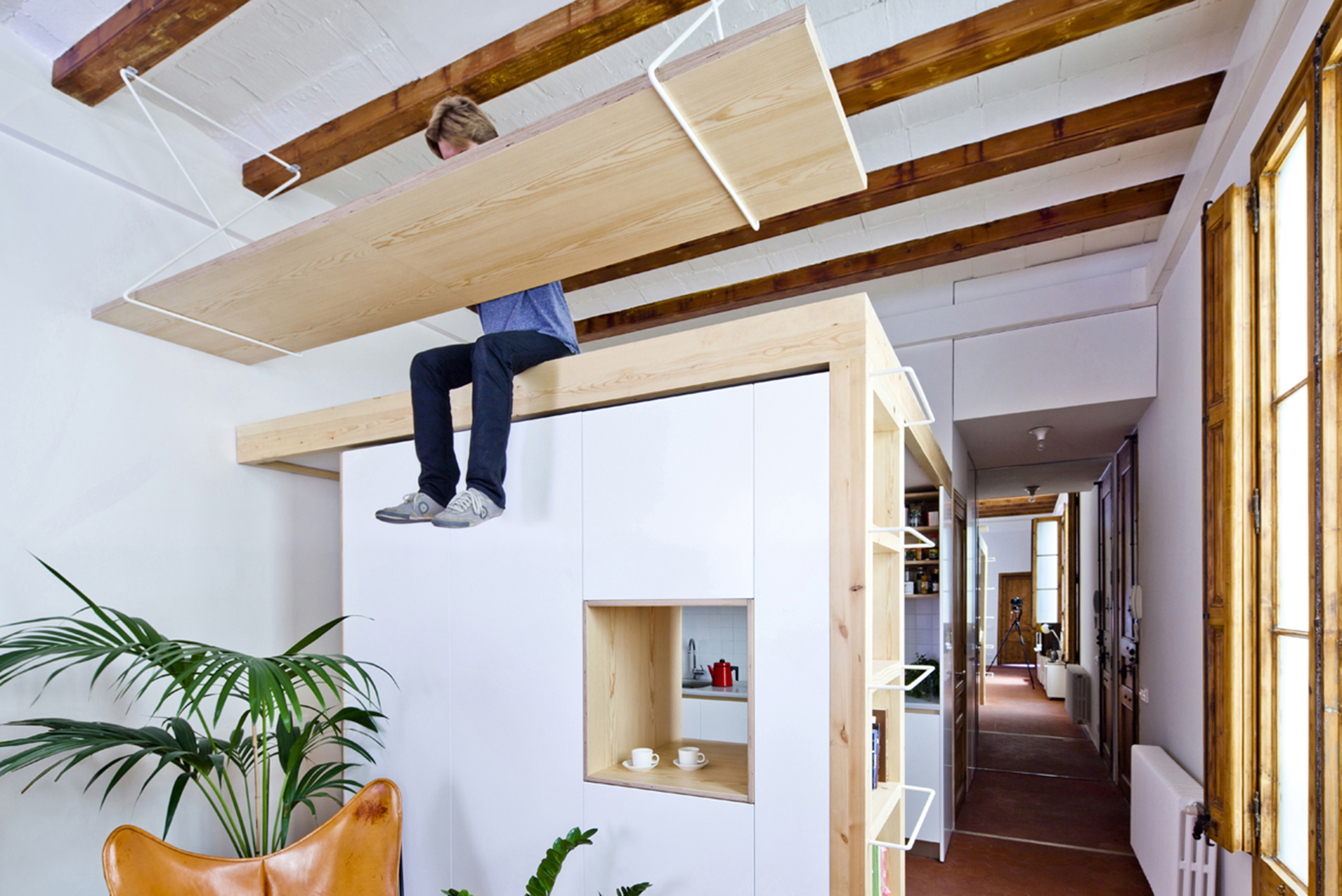 Playful Renovation In Barcelona Squeezes More Out Of A Tiny Home