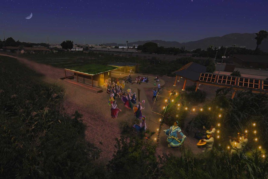 Architecture students, Huerta del Valle, Cal Poly Pomona, Kirill Volchinskiy, Hana Lemseffer, Necils Lopez, community garden, Los Angeles, growing food, sustainable food, crowdsource architecture, Kickstarter,