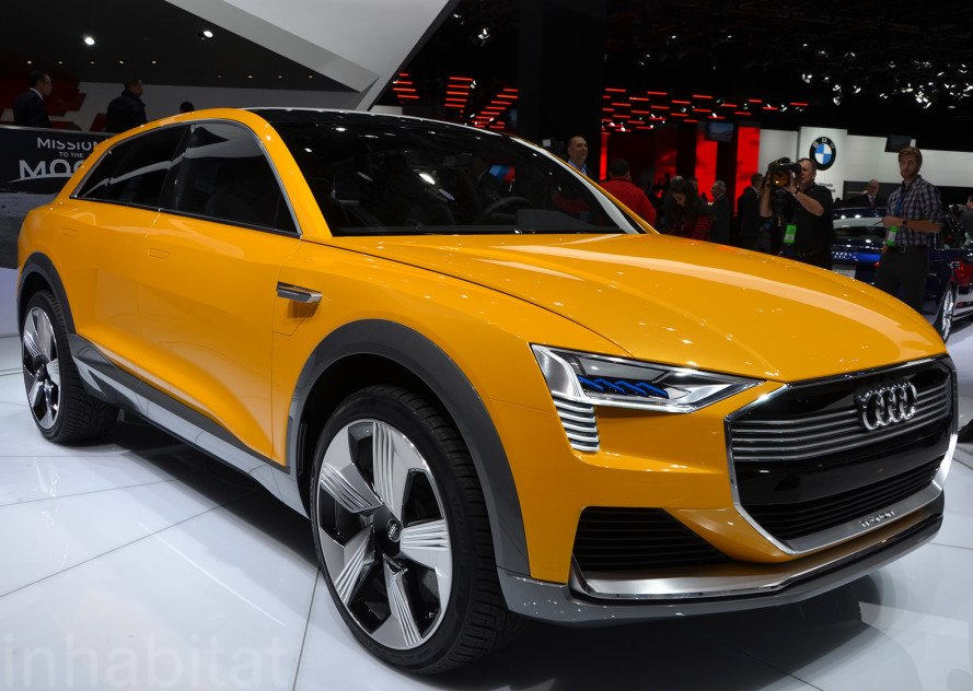 Audi H-Tron Quattro, Audi, 2016 Detroit Auto Show, NAIAS 2016, Detroit Auto Show, NAIAS, electric vehicles, green cars, green transportation, sustainable transportation, hydrogen car, fuel cell vehicle, hydrogen fuel cell, zero-emission vehicle