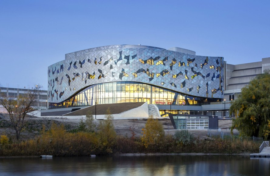 ZAS Architects, Bergeron Centre for Engineering Excellence, Canada, glass facade, undulating facade, school campus, Canada school, facade design, gender balance school, green architecture