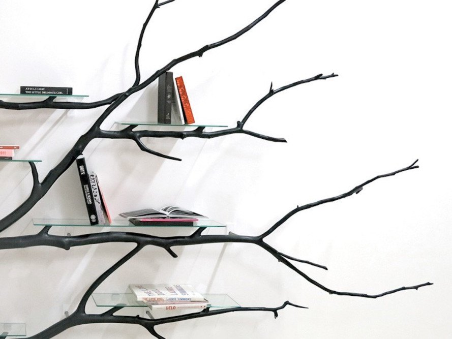 Bilbao by Sebastian Errazuriz, Bilbao bookshelf, found art, found sculpture, functional sculpture, Sebastian Errazuriz, oriental plane tree sculpture, Jequitiba wood sculpture, wood art, tree branch bookshelf, bookshelves