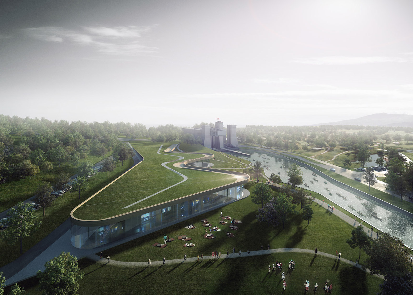 Green-roofed Canadian Canoe Museum will house the world's largest collection of canoes and kayaks in Ontario