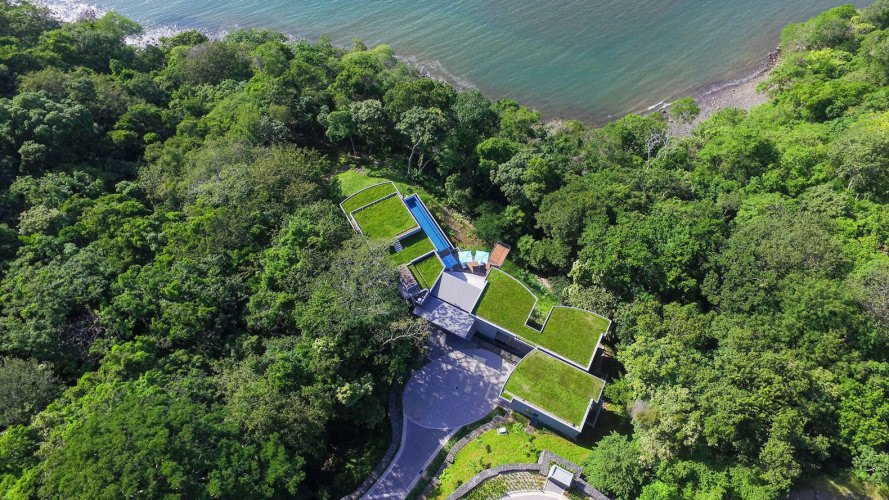 SARCO Architects, Costa Rica, Casa Magayon, Casa Magayon by SARCO Architects, breezeways, green roof, modular architecture, energy efficient home, luxury home, minimize site disturbance,