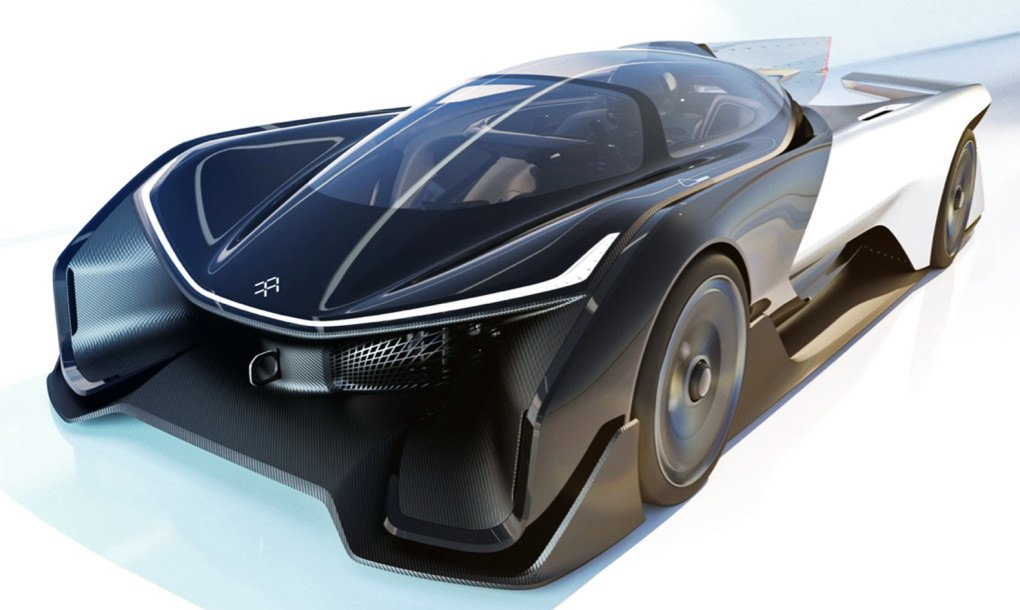faraday future unveils insane 1 000 horsepower electric car at ces inhabitat green design. Black Bedroom Furniture Sets. Home Design Ideas