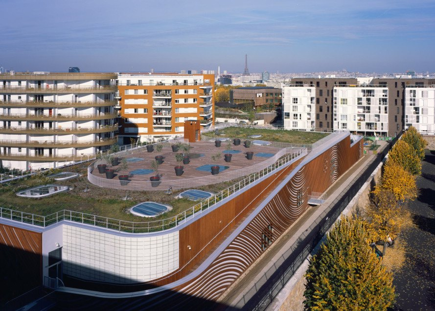 Feng Shui, swimming pool, green roof, Laurence Dujardin, Mikou Studio, Feng Shui swimming pool by Mikou Studio, Feng Shui swimming pool, skylights, AquaZena, AquaZena Paris, Paris,