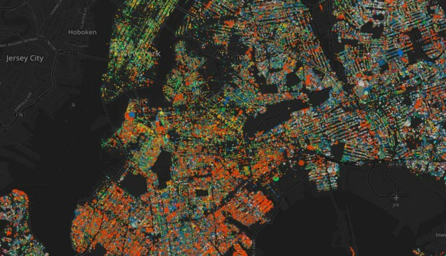 Crazy Interactive Map Shows Of NYCs Trees Inhabitat - Interactive space map