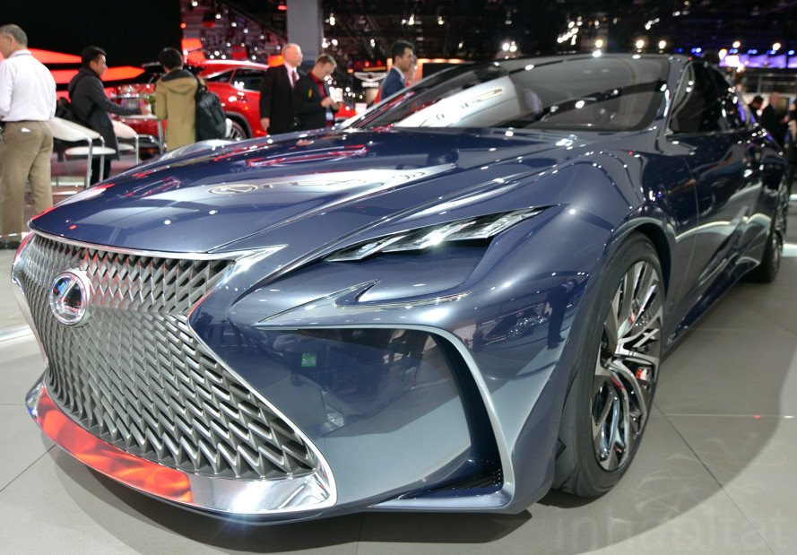 Lexus LF-FC, LF-FC, Lexus LF-FC, Lexus, hydrogen car, fuel-cell vehicle, hydrogen fuel cell, NAIAS, Detroit Auto Show, 2016 Detroit Auto Show, NAIAS 2016, green transportation, green design, sustainable design, emission-free vehicle, hydrogen vehicle