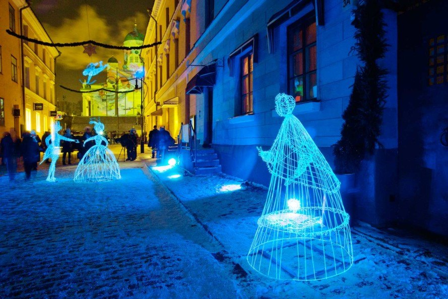 Lux Helsinki, Martta-Kaisa Virta, Medicine City, Caitlind r.c. Brown & Wayne Garrett, interactive Cloud sculpture, Alexander Reiichstein, Helsinki, Finland, LED lights